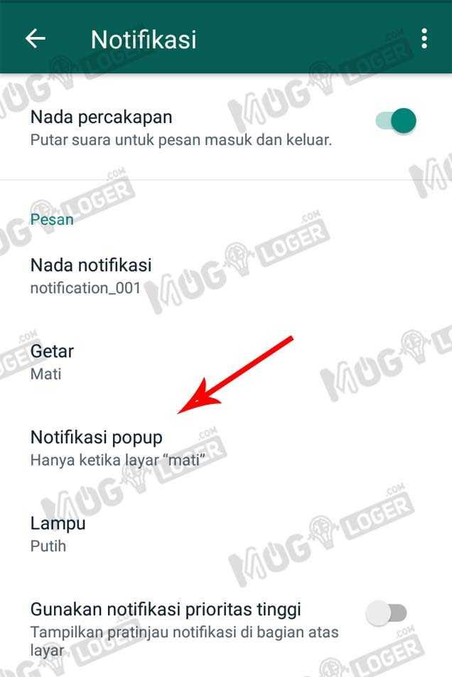 buka menu notif popup di whatsapp