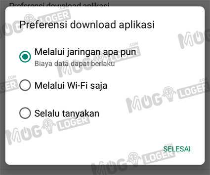 preferensi download aplikasi