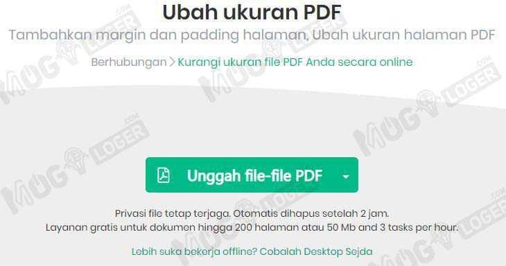 unggah file file pdf di sejda