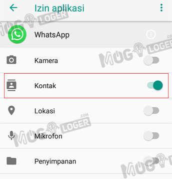 izin aplikasi whatsapp untuk akses kontak