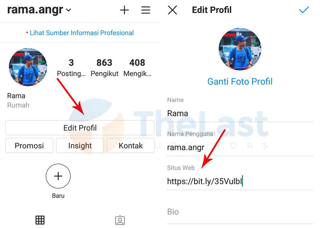 Menambahkan Link Line Ke Instagram -  Cara Membuat Link Line di Instagram