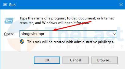 Perintah Windows Run - Cek Aktivasi Windows 10