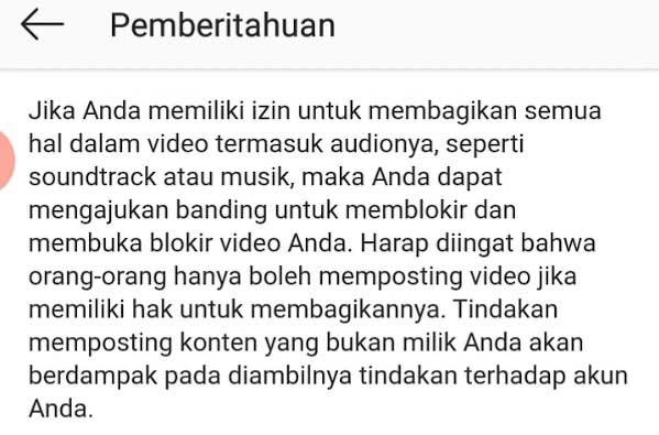 Pesan Copyright Ig - Cara Mengatasi Copyright Di Instagram