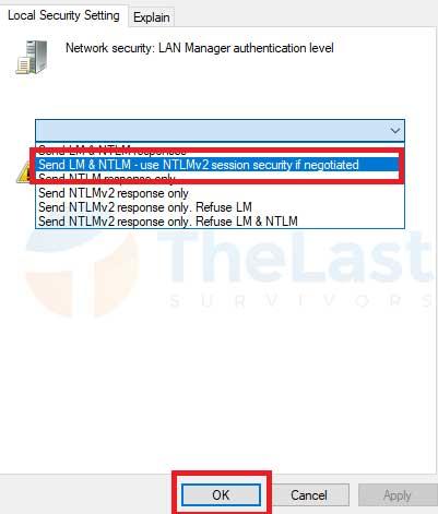 Send LM & NTLM-use NTLMv2