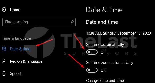 pengaturan tanggal dan waktu windows