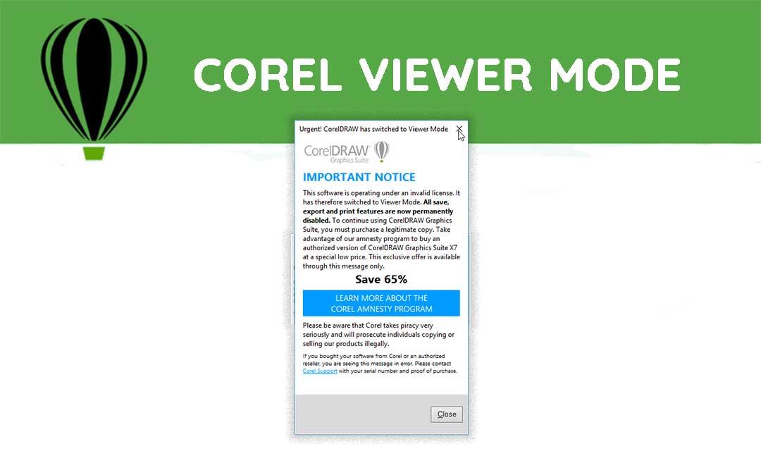 cara mengatasi corel draw x7 viewer mode