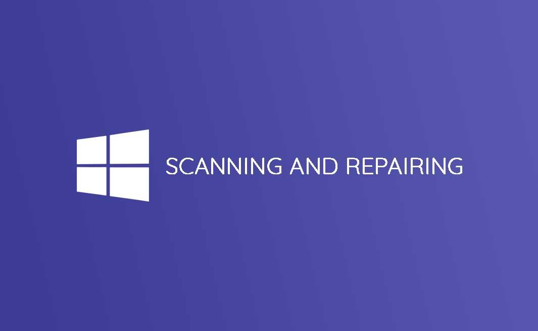 cara mengatasi scanning and repairing drive c windows 10