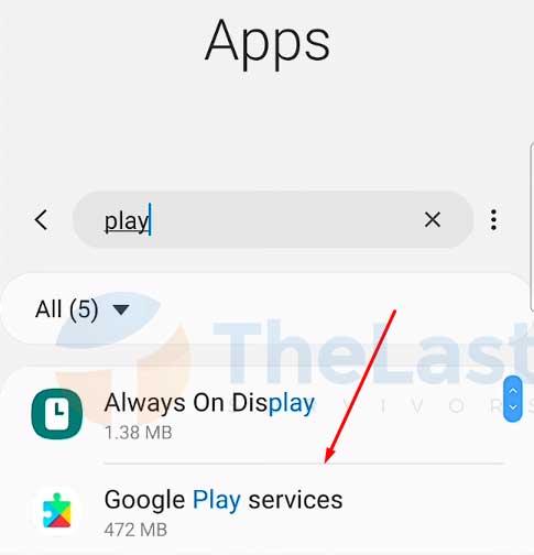 Ketuk Google Play Services