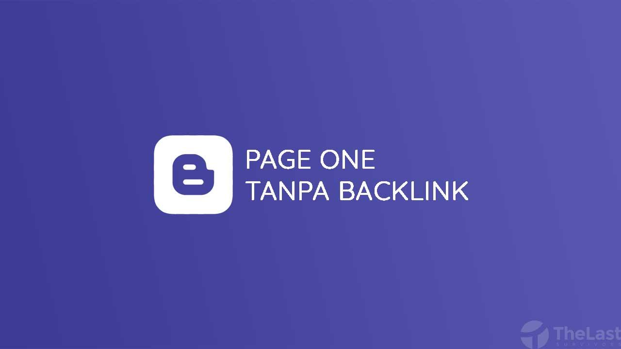 Page One Tanpa Backlink