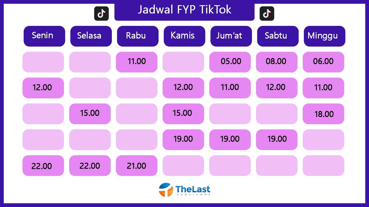 Jadwal FYP TikTok Hari Ini
