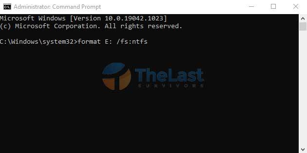 Format Disk Dengan Cmd