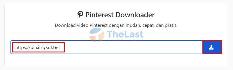 Paste Link Di Pinterest Downloader
