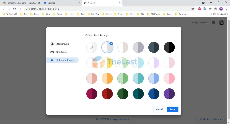 Color And Theme Chrome