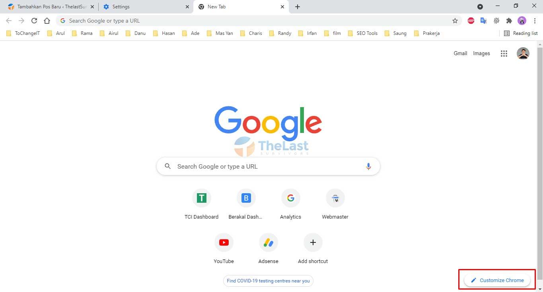 Customize Chrome