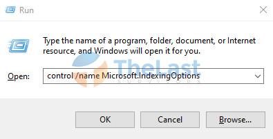Run Microsoft Indexing