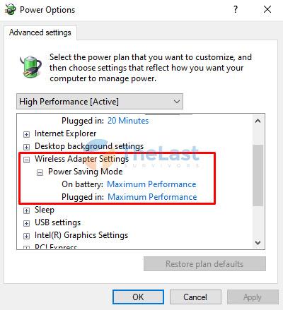 Maximum Performance Wireless Settings